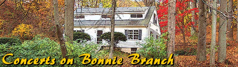 Concerts on Bonnie Branch summer banner